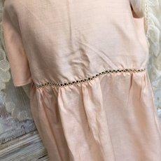 画像6: ピンクシルクとチュール子供用ドレスとケープのセット (6)