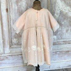 画像5: ピンクシルクとチュール子供用ドレスとケープのセット (5)