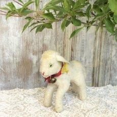 画像1: シュタイフ 白い羊のぬいぐるみ (1)