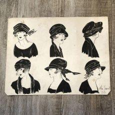 画像5: モード冊子『 la Femme de France』『C'EST LaMode』とペン画の4点セット (5)