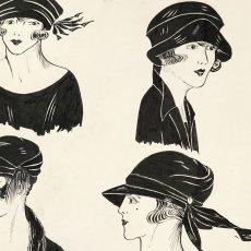 画像9: モード冊子『 la Femme de France』『C'EST LaMode』とペン画の4点セット (9)