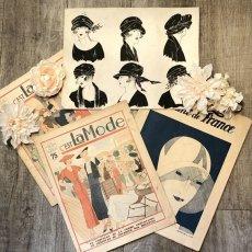 画像1: モード冊子『 la Femme de France』『C'EST LaMode』とペン画の4点セット (1)