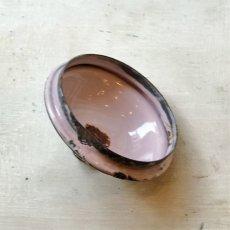 画像6: 小鳥と薔薇柄 淡いピンクのホーローポット (6)