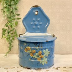 画像1: ベリー柄ブルーのセル缶 (1)