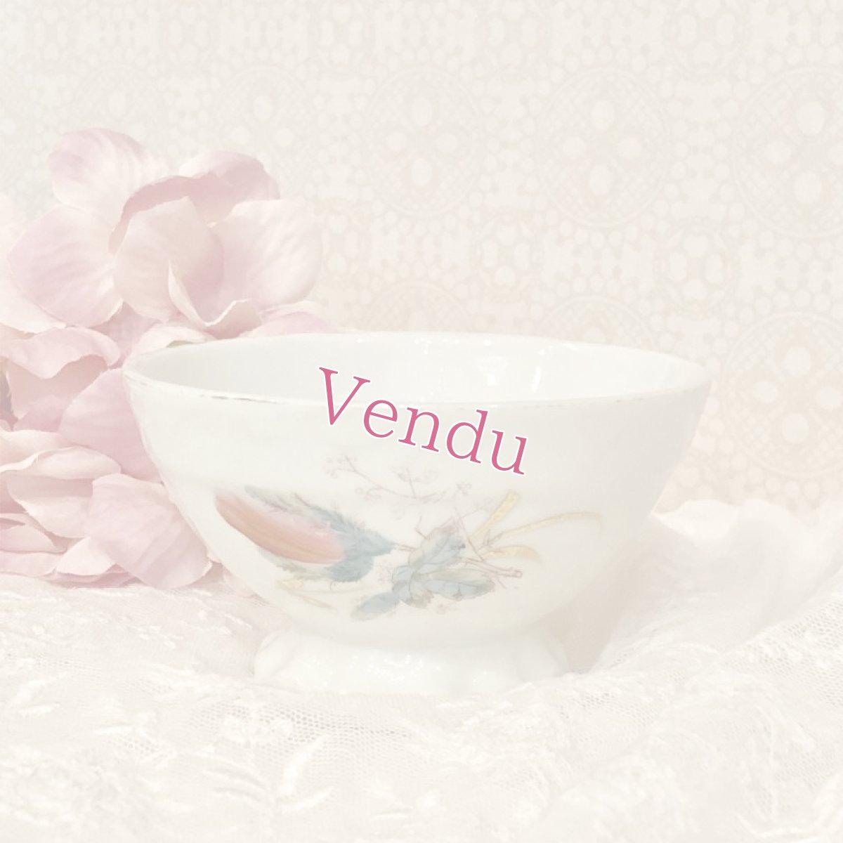 画像1: 薔薇つぼみ柄おままごとカフェオレボウル (1)
