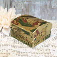 画像1: 古い紙製 スミレの香水箱 (1)