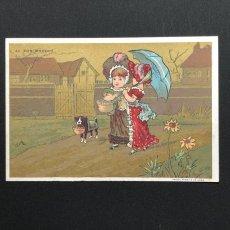 画像6: AU BON MARCHE 少女柄クロモスカード 6枚セット (6)