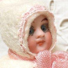 画像5: ピンクストライプの上着 パンツスタイルバニードール (5)