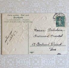 画像2: パンジー柄ポストカード(右寄り) (2)