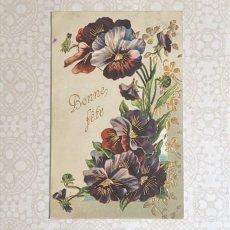 画像1: パンジー柄ポストカード(右寄り) (1)