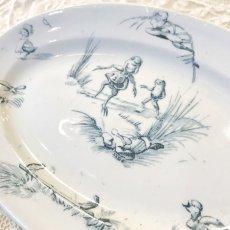 画像2: リュヴィネル カエルと鳥と昆虫の柄 おままごとオーバルプレート (2)