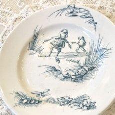 画像2: リュネヴィル カエル柄 おままごと小皿 (2)