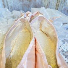 画像6: E.PORSELLI ピンクのサテン バレエシューズ (6)