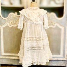 画像1: ヴァランシエンヌレースのチャイルドドレス (1)