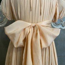 画像5: サーモンピンクプリーツキッズドレス (5)