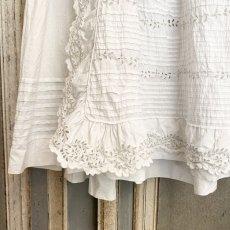 画像5: ホワイトカットワークレースのBaptême洗礼服 (5)