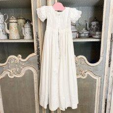 画像2: ホワイトカットワークレースのBaptême洗礼服 (2)