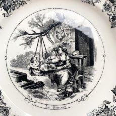 画像3: サルグミンヌ グリザイユプレート ゆりかごの柄 (3)