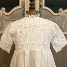 画像2: 機械刺繍のヴィンテージ洗礼ドレス  (2)