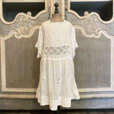 画像1: アイリッシュクロッシェレースのチャイルドドレス (1)