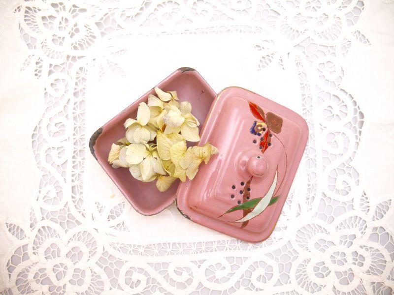 画像1: ピンク小さなソープディッシュ (1)