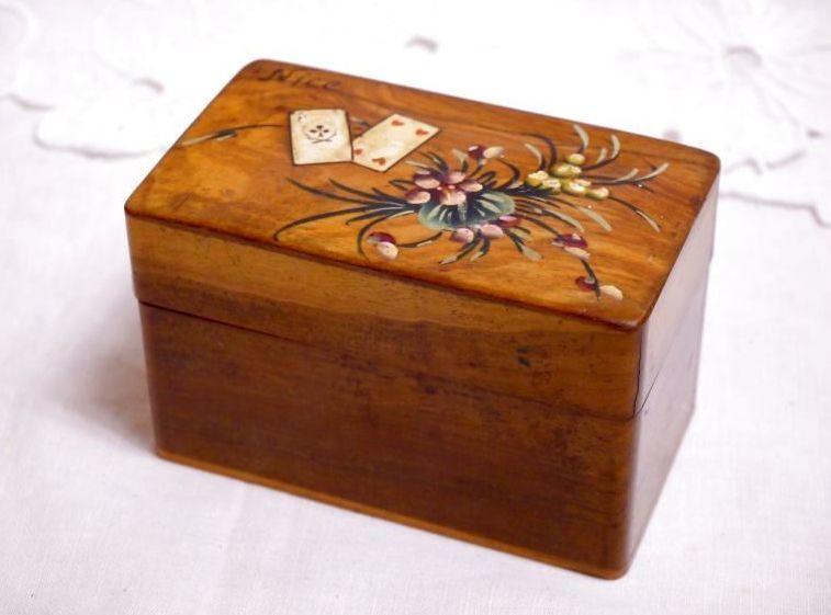 画像1: モシュリンヌ スミレとトランプ柄のカードケース (1)