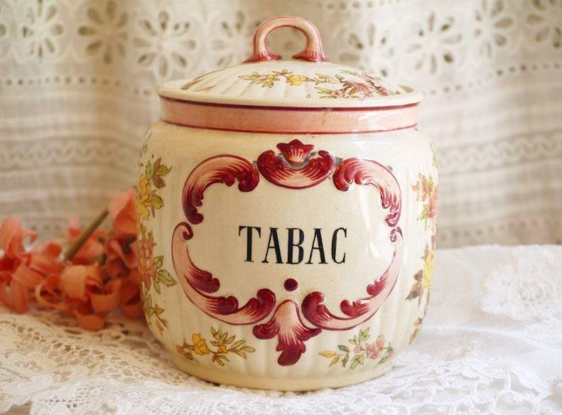 画像1: ルイ15世様式 サルグミンヌ 陶器のタバコ入れ (1)