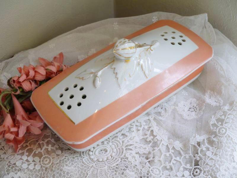 画像1: いちごモチーフ陶器の歯ブラシケース (1)