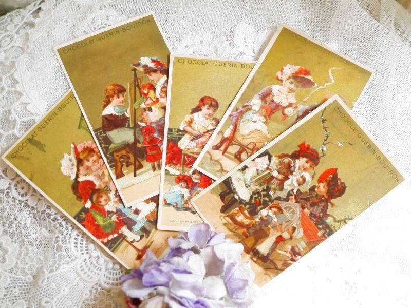 画像1: Guerin Boutronの女の子とドールのカード 5枚セット (1)