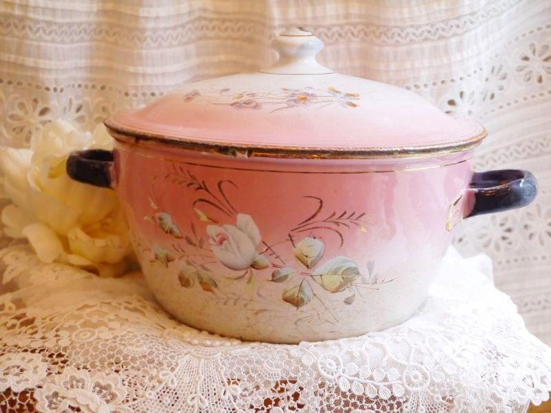 画像1: ピンクぼかし薔薇と花柄のスーピエール (1)