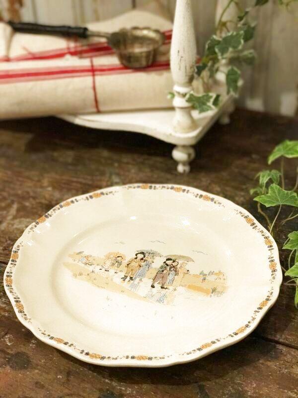 画像1: サルグミンヌ子供柄 絵皿 (1)
