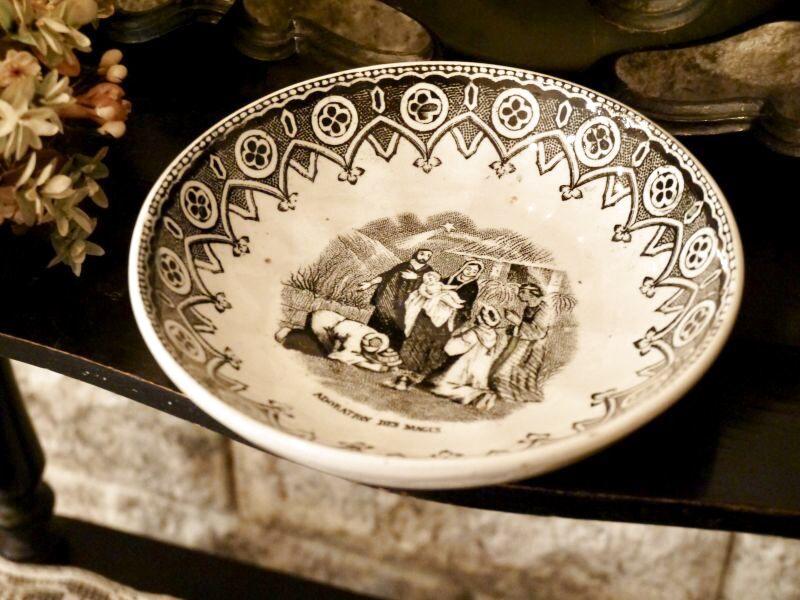 画像1: MOUZIN LECAT&CIE グリザイユ 絵皿 (1)