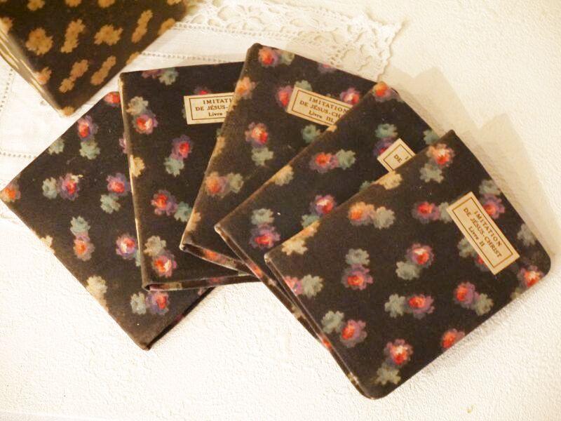 画像1: 小花柄カルトナージュBOX付き 小さな本セット (1)