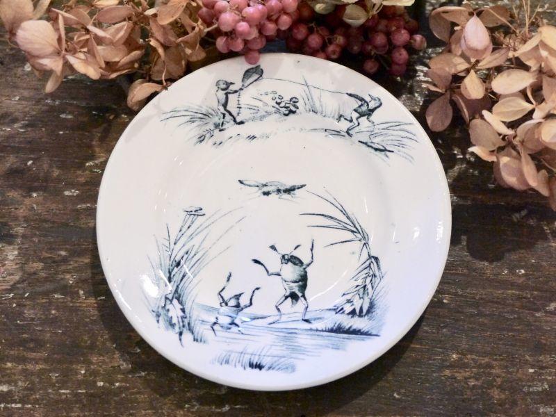 画像1: リュネヴィルおままごと小皿 ゲンゴロウ柄 (1)