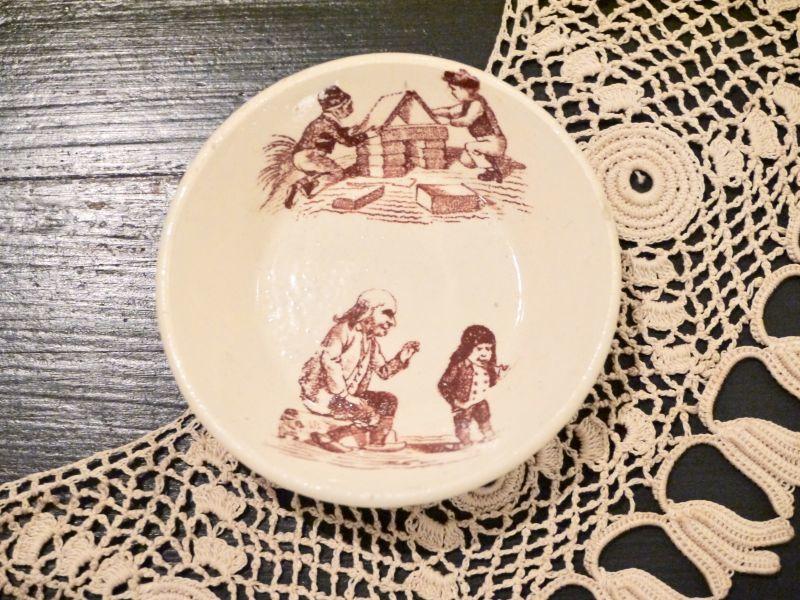 画像1: リュネヴィル 積み木と子供柄 おままごと深皿 (1)