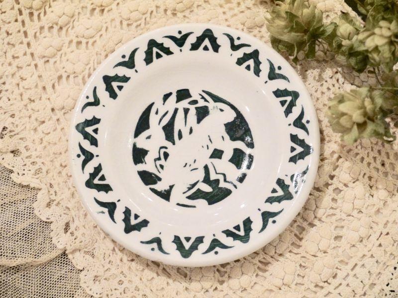 画像1: リュネヴィル うさぎ柄 おままごと小皿 (1)