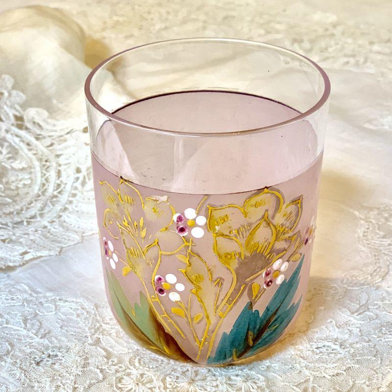 画像1: エナメルペイント ピンクのグラス (1)