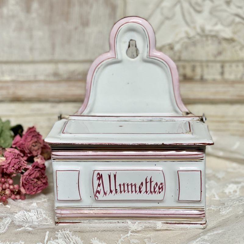 画像1: エトワール社 ピンクライン白アリュメット缶 (1)