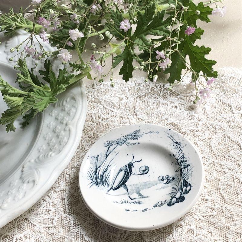 画像1: リュネヴィル ゲンゴロウ柄おままごと小皿 (1)