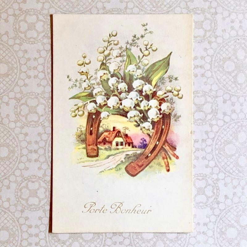 画像1: 馬蹄とすずらんのポストカード (1)