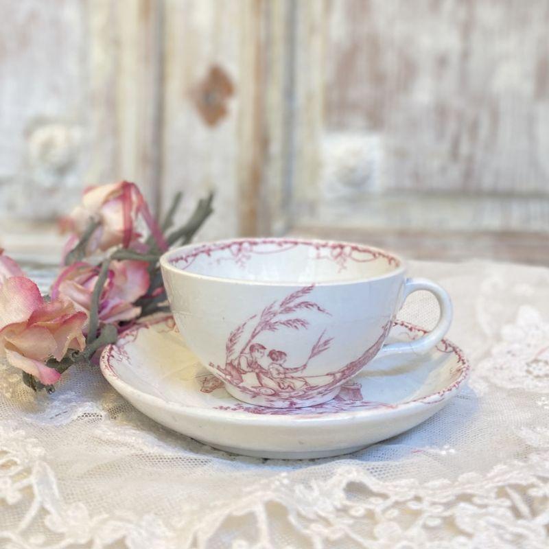 画像1: リュネヴィル おままごとカップ&ソーサー (1)